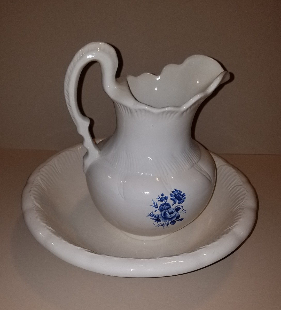 Pitcher and Wash Bowl donated by Roger Callahan