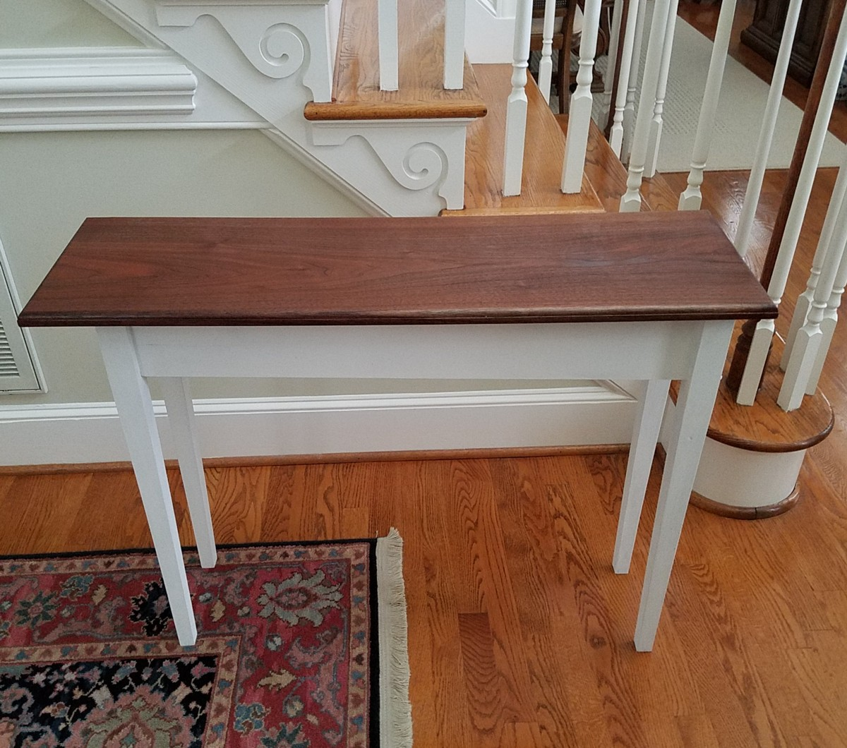 Handmade Console Table by Charlotte Woodwroker Roger Callahan